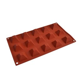 Wholesale Mould Pudding - 15c Pyramid Silicone Cake Chocolate Soap Pudding Jelly Candy Ice Cookie Biscuit Mold Mould Pan Bakeware Wholesales