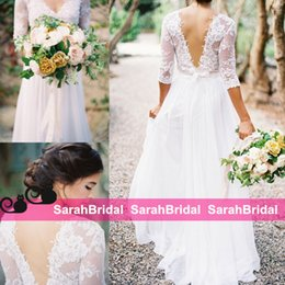 Wholesale Cheap Beautiful Long Sleeve Dress - Mira Zwillinger Garden Bohemian A-Line Wedding Dresses New for 2016 Rustic Country Brides Wear Sale Cheap Beautiful Style Boho Bridal Gowns