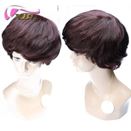 Wholesale hot short hairstyles - Color 2 33 100 human Hair Wigs XBL New Arrival Hot Selling Short Wig Free Shipping