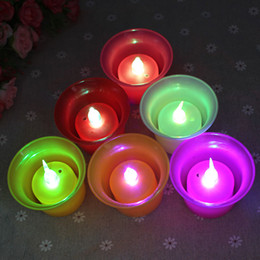 Wholesale Diy Promotional Gifts - Direct festive wedding dance bar promotional gifts stall selling luminous electronic Valentine birthday candles