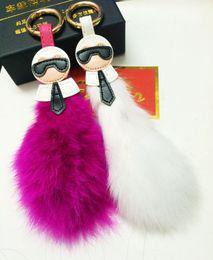 Wholesale Spike Plush Doll - Foreign Trade Key Pendant Fox Fur Plush Fur Tail Hair Bulb Galeries Lafayette Bag Doll Car Pendant
