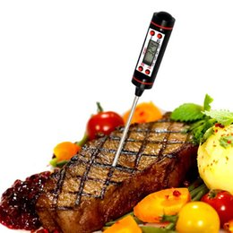 Wholesale Thermometer Dhl - New Arrival Cooking Thermometer Instant Read Digital Thermometer for All Food, BBQ and Candy Meat Thermometer DHL FREE