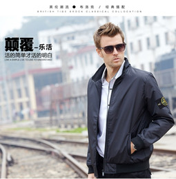 Wholesale Black Long Coat Men Styles - Fast delivery 2017 latest style of throwing autumn men's jacket bomber coat and jacket blue collar jacket # PL001