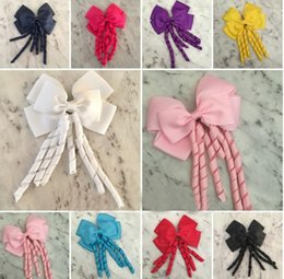 Wholesale Korker Hair Accessories - HOT SALE Girls Bow Hair Clips 4.5inch Large Bow Big Korker School Dance hair bow Party hair Accessories Corker 36pcs