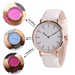 Wholesale Geneva Leather Watches - Hot Sale New women geneva thermochromic watches Temperature Change Color Watch fashion leather watch simple ladies casual quartz wrist watch