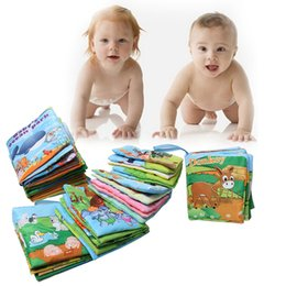 Wholesale Infants Stroller Wholesalers - Infant Baby Cloth Book Intelligence Development Books Toys Learning Education Unfolding Activity Books Stroller Accessories VE0085 Wholesale