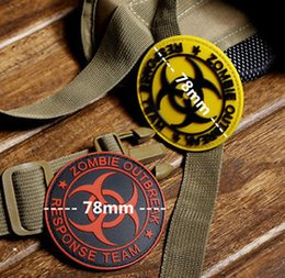 Wholesale Zombie Patches - Free shipping Brand New Resident Evil Series Zombie outbreak response team 3D PVC tactical Armband Army morale rubber Hook & loop patch
