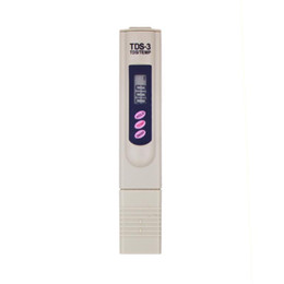 Wholesale Filter Electrical - LCD Digital TDS-3 TDS Meter Filter Pen Temp PPM Tester Stick Water Purity Tester 0-9990 PPM Temperature Pen No Backlight