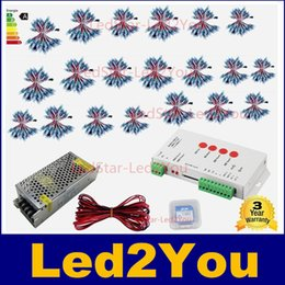 Wholesale Diffused Rgb - 1000pcs WS2811 led Pixel Module 12mm IP68 RGB diffused addressable for letter sign DC 5V + T1000S Controller + Power adapter