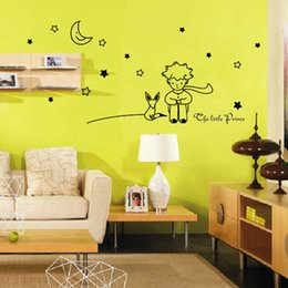 Wholesale Prince Wall - Kindergarten classroom wall stickers children's room wall decoration cartoon fairy tale prince new 2016 European and American fashion