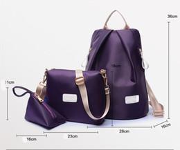 Wholesale 3pcs Girl Women - 3PCS Set 2017 Women Nylon Backpack School Bags For Teenagers Girls Backpacks Cute Rucksack Schoolbag Lady Bookbags