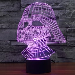 Wholesale Touch Light Table - Star War Darth Vader 3D Optical Illusion Desk Table Light Lamp