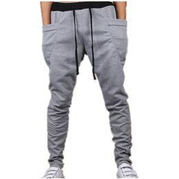 Wholesale Harem Pants Dark Red - Wholesale-2016 Spring Summer Autumn Men's fashion Harem Pants Male Casual Hip Hop Slacks Sweatpants Trousers