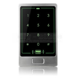 Wholesale Metal Control Panel - DIY 125KHz RFID Card Reader Touch Panel Backlight Metal Case Password Keypad For Access Control System Kit C20