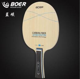 Wholesale Carbon Table Tennis - Wholesale- BOER blue carbon Table tennis racket blade