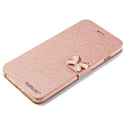 Wholesale Diamond Case For Blackberry - Luxury iPhone7  7plus Flip Silk Leather Stand Wallet cases for iphone 6S with quality phone Diamond cases for iphone 7plus Leather case