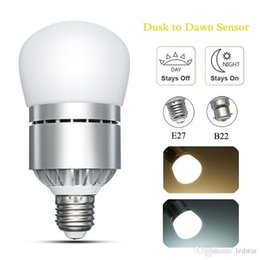 Wholesale E27 Led Corn Bulb Outdoor - E26 E27 B22 Motion Sensor Light Dusk to Dawn LED Lights Bulb 12W 1200LM Automatic on off Sensor Light Indoor Outdoor Security Bulb