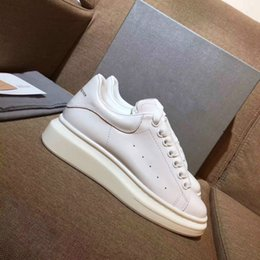 Wholesale New Court Style - New style top quality model MQUEEN shoes blacks Hot sale brand Men and women Genuine Leather High quality Shoes Size 34-44 free shipping