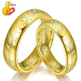Wholesale animal lords - Gold Lord Ring The Lord of the Rings In 316L Stainless Steel men women as power finger Ring 8mm Wide Bea022