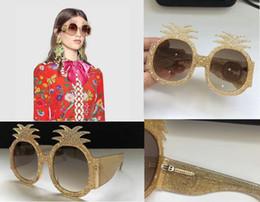 2019 occhiali da ananas Nuovi occhiali da sole firmati G0150S occhiali da sole per donna occhiali da sole di marca ananas designer rivestimento UV400 occhiali da sole di protezione moda sconti occhiali da ananas