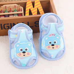 Wholesale Teddy Fabric Wholesale - 2016 summer sandals baby beauty Teddy bear cubs shoes cloth bottom Baby Toddler shoes