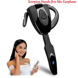 auriculares inalámbricos geniales Rebajas Nuevo Scorpion Ear Hook Recargable Auricular Bluetooth Gaming Bluetooth Headphone Cool Auricular inalámbrico para PS3 / PC / Teléfono móvil