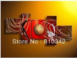 Wholesale Sale Canvas Art Groups - Holiday sale Abstract group oil painting hand painted on canvas art for living room GP52
