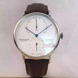 Роскошный бренд Nomos мужские часы мода мужчины кожа кварцевые часы DW  Montre Homme бизнес мужской наручные часы человек Reloj Hombre дешево dw  leather 55e026473f42b