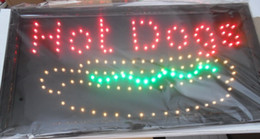 Wholesale Neon Light Open Sign - direct selling custom graphics 10X19 inch indoor Ultra Bright Led hot dog open store Neon lighted Sign Wholesale