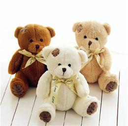 Wholesale Teddy Bear Wedding Decorations - Wholesale-18cm High Quality Super Kawaii Cute Lovely Teddy Bear Plush Toys & Stuffed Dolls Wedding Decoration Baby Toy Baby Gift
