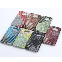 Wholesale Iphone Knit Weave - Mobile Phone Case Weave Knit Grain PC Case Hard Back Cover for Iphone 6 6S Plus SE 5 Samsung Galaxy S6 S7 Edge