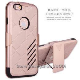 Wholesale Cell Phone Hard Case Clip - 100 pcs Defender Hybrid Hard Case For Samsung galaxy On5 Alcatel Fierce 4 5056   Stellar   TRU Cover belt clip Cell Phone Case