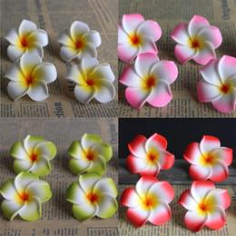Wholesale Fake Eggs - 50Pcs 6cm Plumeria Home Decoration Flower Artificial PE Fake EGG Foam Flower For Wedding Party Decoration