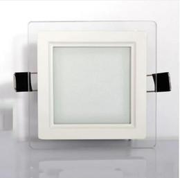 2019 lampade da cucina Pannello a LED Luci SMD5730 Faretto da incasso rotondo Vetro quadrato a soffitto pannello a LED luce fredda caldo bianco illuminazione a LED 110 v 220 v CE SAA