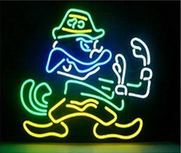 Wholesale Irish Lights - Brand New NOTRE DAME FIGHTING IRISH Glass Neon Sign Beer light
