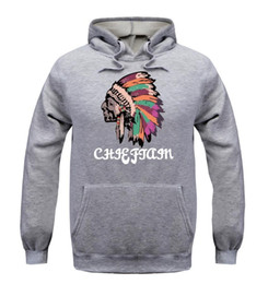 Wholesale Casual Hoodies Sweaters Men - Man Leisure Time Sweater Beckham Fund Indian Head Portrait Pure Cotton Even Midnight Flare Sleeve Hoodie Sweatshirts