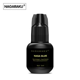 Wholesale Eyelashes Extension Glue Ring - NAGARAKU 5 ml new arrival Eyelash Extension Glue 1 glue ring for free high quality Fast Drying Long Lasting Time free shipping.