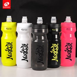 Wholesale Open Water Bottle - NUCKILY Water Bottle 610ml With Large Opening Easy-open Leakprook Valve and Easy-squeeze BPA free Cycling Water Bottle for Riding Running Hi