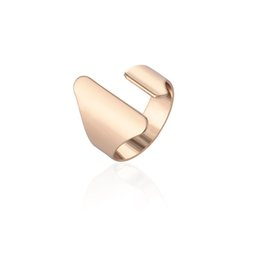Wholesale Dome Rings - Wholesale- Min 1pc 2016 New Fashion Rings Gold and Silver Open Punk Big Dome Rings for Women Rings New Elegant Jewelry JZ072