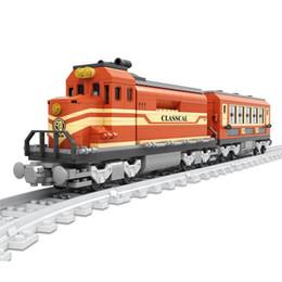 Wholesale Educational Train Toys - AUSINI 2017 New 25902 Train building blocks train 630pcs Train Bricks Blocks children's educational toys brinquedos DIY