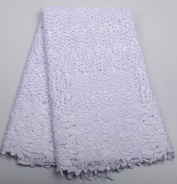 Wholesale Wedding Dresses Wholesale Prices - Cheap Price African Cord Lace French lace fabric High quality African lace fabric for White Polyester wedding dress XZ202B-5