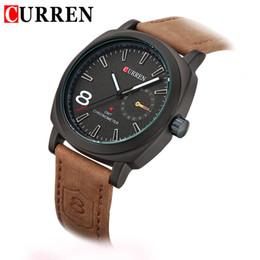 2016 nova moda Negócios Quartz watch Men esporte Relógios Marca Militar Relógios Homens Correia De Couro Corium exército relógio de pulso Frete Grátis de