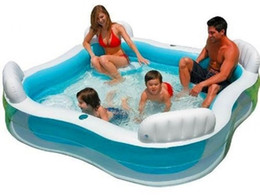 Wholesale Inflatable Paddling Pools - Intex Inflatable Swimming Pool Swim Centre Family Lounge Large Paddling Swimming Seat Pool Outdoor Kids Play Water Swimming Pool DHL