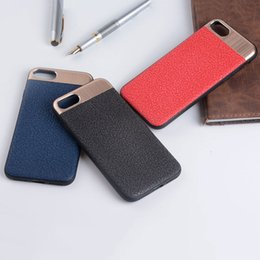 Wholesale Metal Back Magnets - OCWAVE Case for iphone 8 7 6 6s Plusluxury business style copue leather magnet matel back cover
