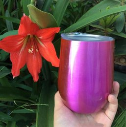 Wholesale Wholesale Double Walled Glass Thermos - Keep warm cool 9 oz Double Wall Vacuum Insulated Thermos Wine Tumbler Egg Mugs Stainless Steel Wine Glasses For Kitchen Dining Bar Party