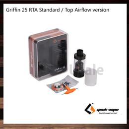Más depósitos online-GeekVape Griffin 25 RTA tanque de 6,2 ml Standard Version Inicio Versión del flujo de aire con estructura-Viajes-al-bobina para mayor flujo de aire original del 100%
