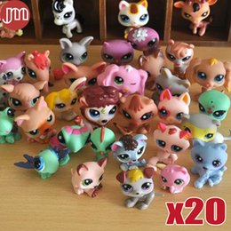 Wholesale Littlest Pet Shop Collection - New 20pcs Kawaii Rare Littlest Pet Shop Random Mini Figures Cat Dog Toys 4-6cm Anime Baby Dolls Collection Gift Cake Toppers