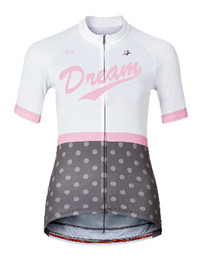 Wholesale Womens White Lycra Cycling Shorts - womens White grey cycling short sleeve jersey 2016 Maillot ciclismo, bike riding clothes, bicycle Cycling Clothing D12