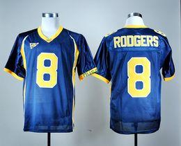 Wholesale California Fashion Men - California Golden 2017 College Football Jerseys NCAA 8 Aaron Rodgers Jersey Men Team Color Navy Blue Fashion Breathable Embroider Logo