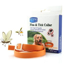 Wholesale Cat Flea Tick Collars - Flea collar for cats dogs Pet insect repellent collars flea lice tick mite prevention collar pet supplies